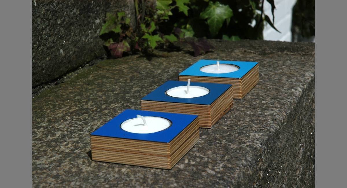 handelsware-teelichter-blau